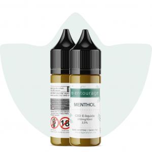 e-liquide 2,5% entourage vanille menthol cbd